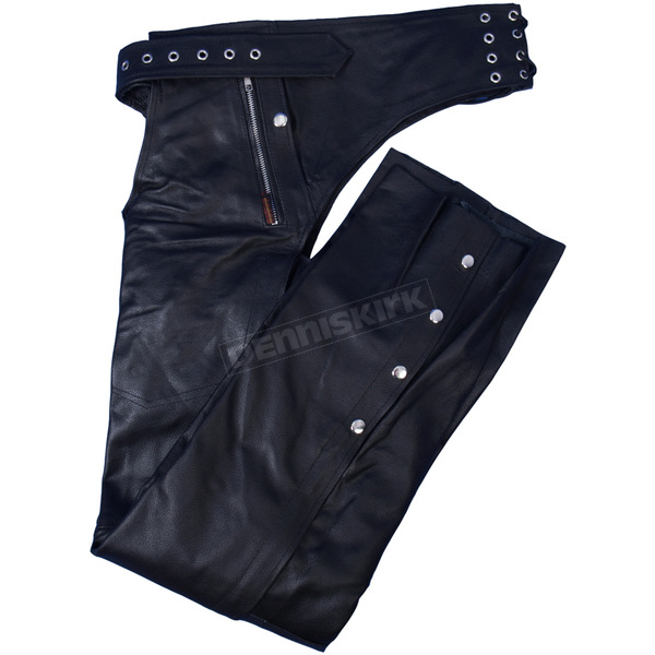 Hot Leathers Lined Unisex Leather Chaps w/Quilted Lining - CHM1006XS