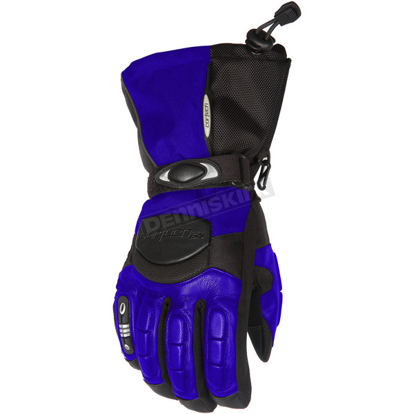 Cortech Womens Blue/Black Cascade Gloves - 8403-0202-76