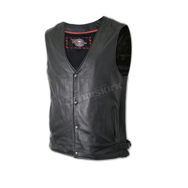 Milwaukee Motorcycle Clothing Co. Classic Side-Ribbed Leather Vest - M3630XXL