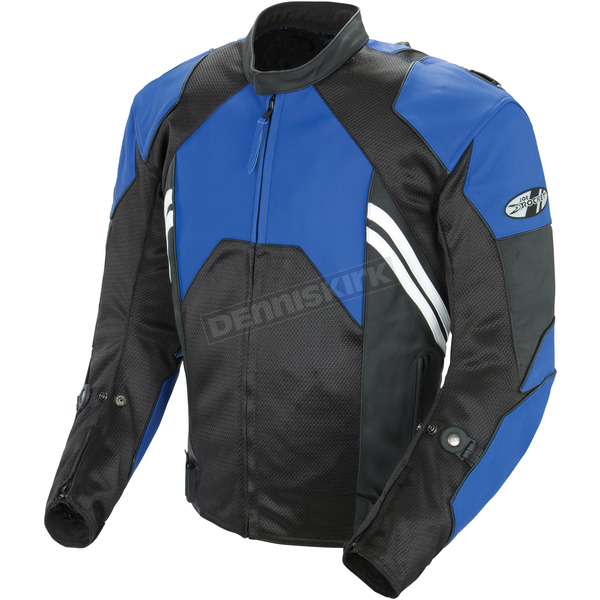 Joe Rocket Blue/Black Radar Leather Jacket - 1052-1244