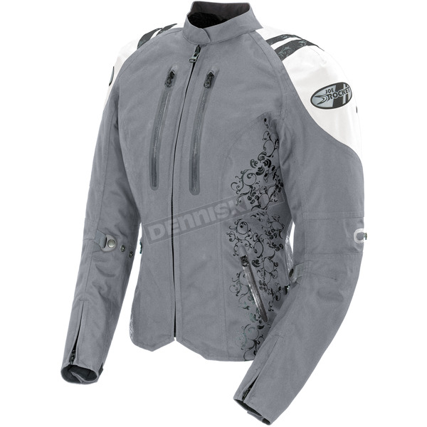 Joe Rocket Womens Silver/White Atomic 4.0 Jacket - 1061-5606