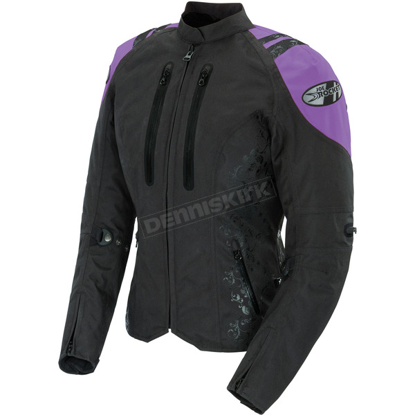 Joe Rocket Womens Black/Purple Atomic 4.0 Jacket - 1061-5802