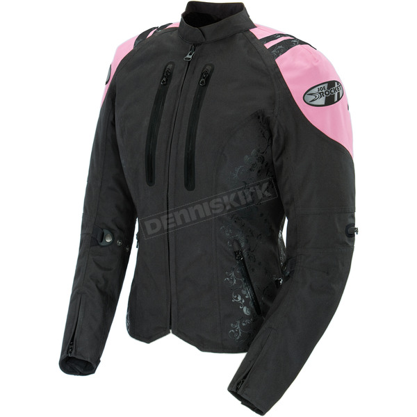 Joe Rocket Womens Black/Pink Atomic 4.0 Jacket - 1061-5901