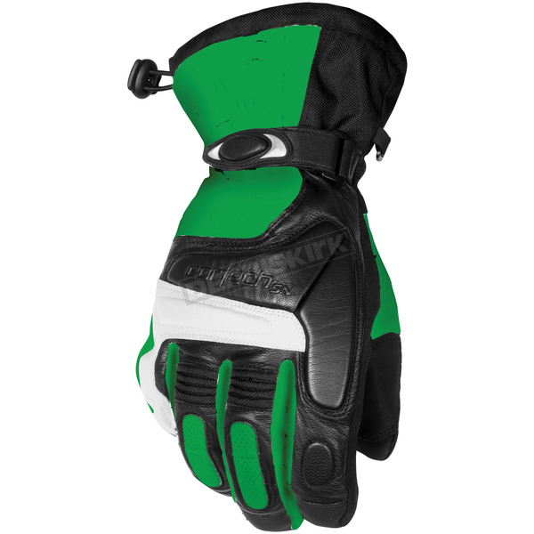 Cortech Green/Black Blitz Snowcross Gloves - 8303-0104-09