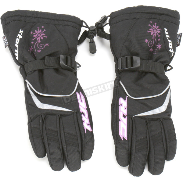 HJC Womens Black/Snow Print Storm Gloves - 1226-604
