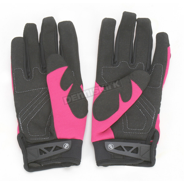 Joe Rocket Womens Pink/Black Velocity Gloves - 1330-0905
