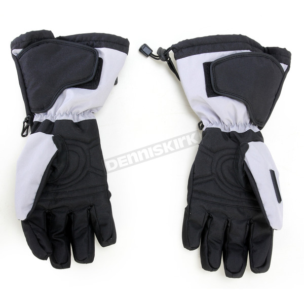 Cortech Black/Silver Journey 2.1 Snow Gloves - 8933-1407-07
