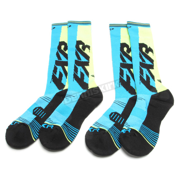 Blue/Hi-Vis Clutch Performance Socks - 181610-4065-00