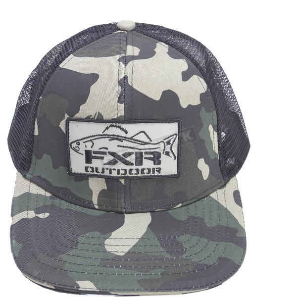 FXR Racing Urban Army Camo/Black Angler Hat - 171902-7610-00