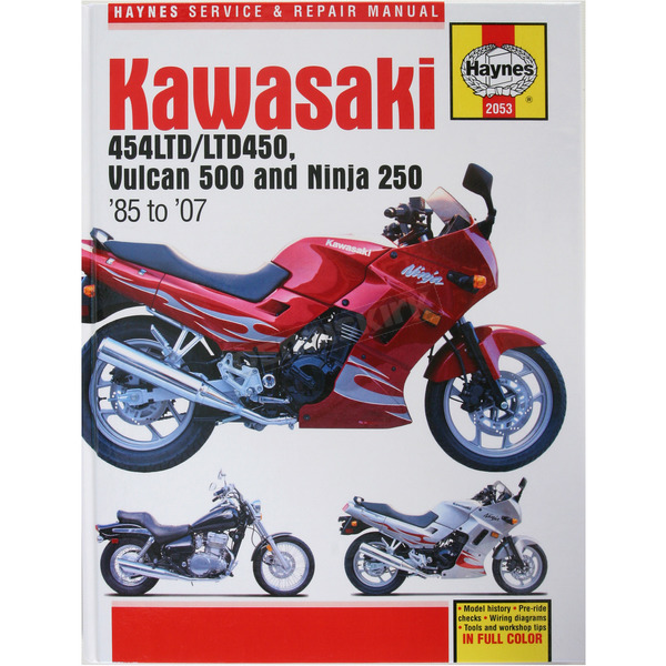 Haynes Kawasaki Motorcycle Repair Manual  - 2053