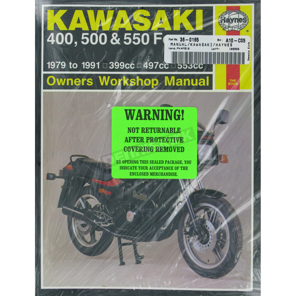 Haynes Kawasaki Motorcycle Repair Manual  - 910