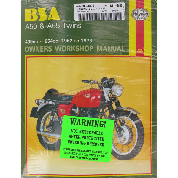 Haynes BSA A50/A65 Repair Manual  - 155