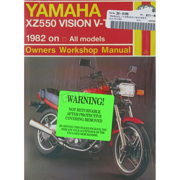 Haynes Yamaha XZ550 Vision Repair Manual  - 821