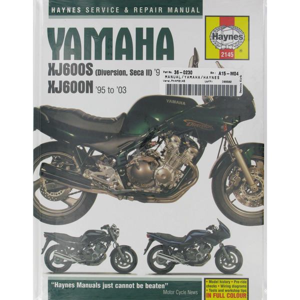 Haynes Yamaha XJ600S/XJ600N Repair Manual  - 2145