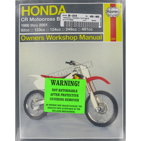 Haynes Honda Repair Manual - 2222