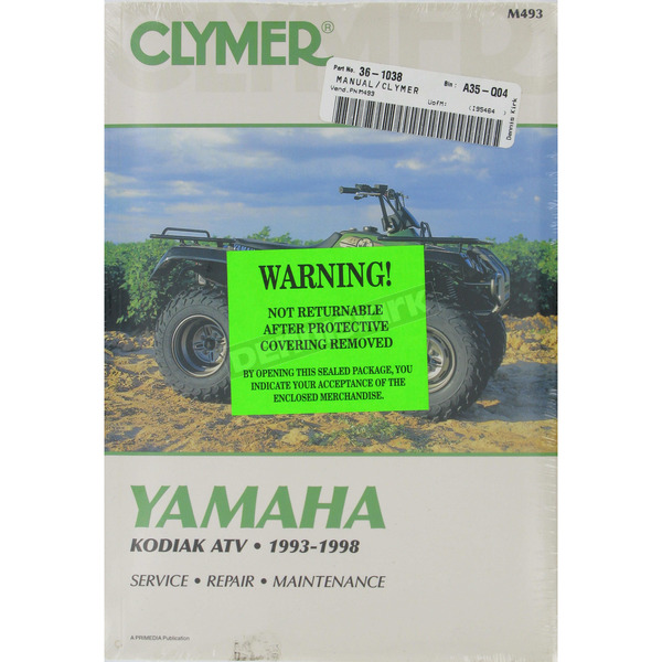 Clymer Yamaha Repair Manual - M493