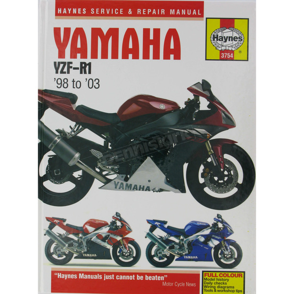 Haynes Yamaha YZF-R1 Repair Manual - 3754