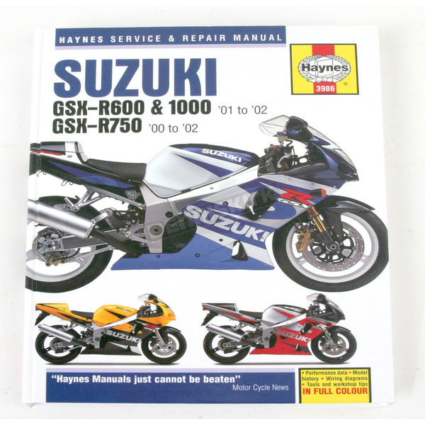 Haynes Suzuki Motorcycle Repair Manual - 3986