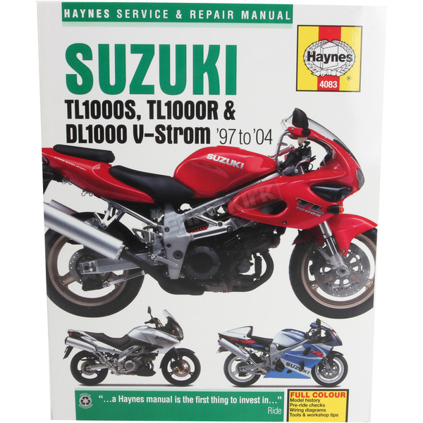 Haynes Suzuki Motorcycle Repair Manual - 4083
