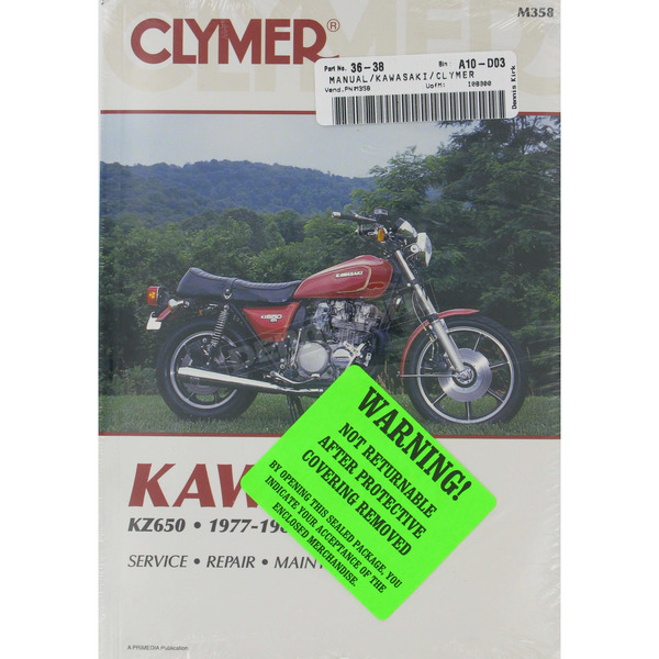Clymer Kawasaki Repair Manual  - M358