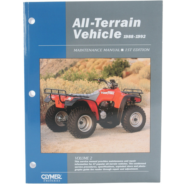 Clymer ATV Service Manual Volume 2 - ATV2-1