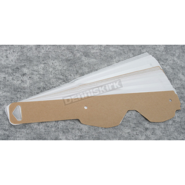 Scott Clear WORKS Holeshot Tearoffs for Hustle, Split and Tyrant Series Goggles - 219712-223