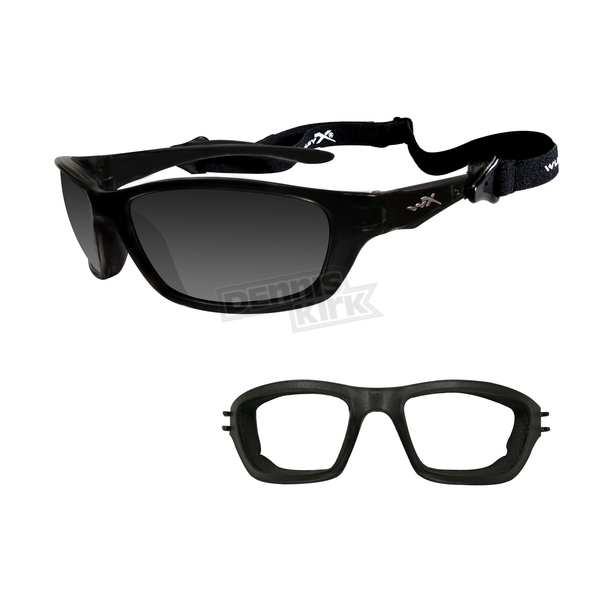 Wiley X Gloss Black Brick Climate-Control Sunglasses - 857