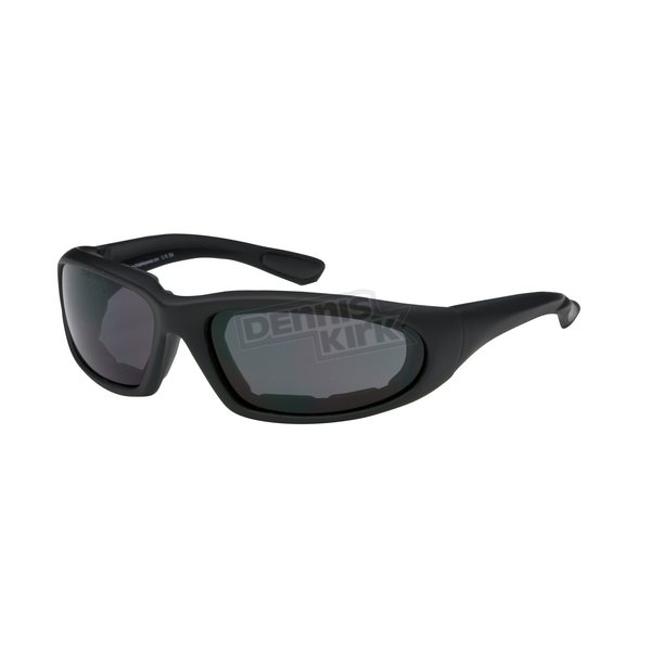 Chapel Black C-15 Performance Sunglasses w/Smoke Lens - C-15BK/SM
