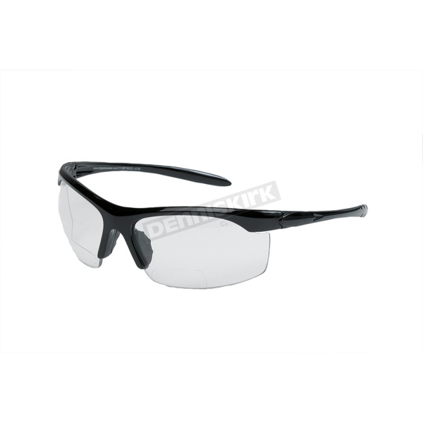 Chapel Black C112BF Bi-Focal Sunglasses w/+2.00 Clear Lens - C112BFBK/CL/2.0