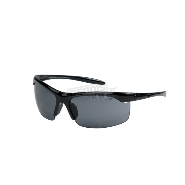 Chapel Black C112BF Bi-Focal Sunglasses w/+1.50 Smoke Lens - C112BFBK/SM/1.5