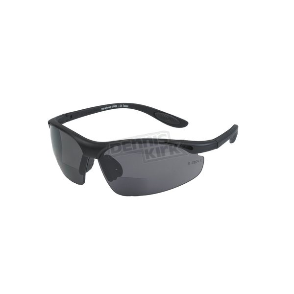 Chapel Black R206 Bi-Focal Sunglasses w/+1.50 Smoke Lens - R206BK/SM/1.5