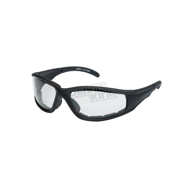 Chapel Black S23BF Bi-Focal Sunglasses w/+2.50 Clear Lens - S23BFBK/CL/2.5