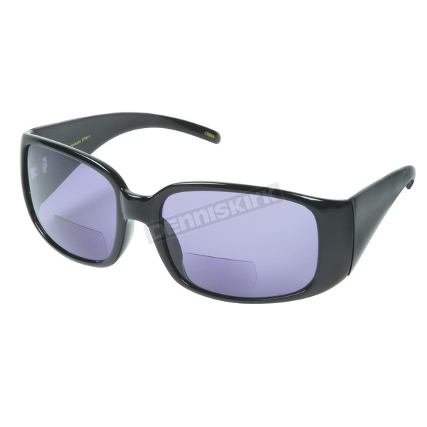 Chapel Womens Black R504 Bi-Focal Sunglasses w/+2.50 Smoke Lens - R504BK/SM/2.5