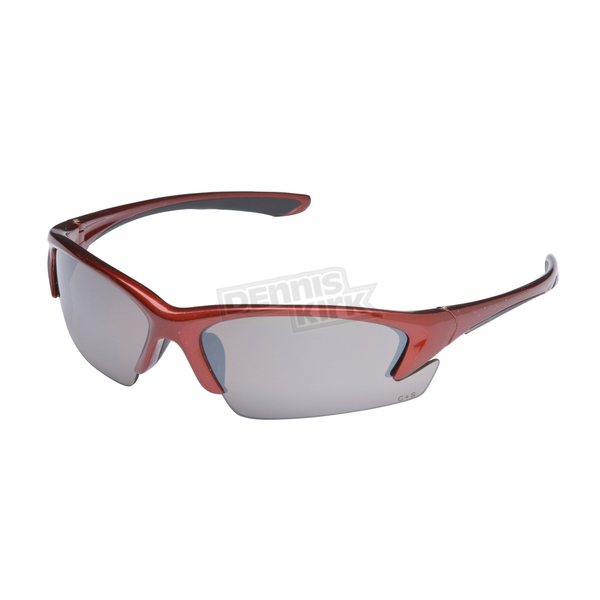 Chapel Red Safety S-44 Sunglasses w/Brown Lens - S-44RED/BR
