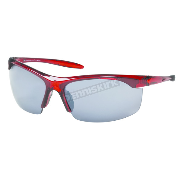 Chapel Red Safety C-112 Sunglasses w/Smoke Lens - C-112RED/SM