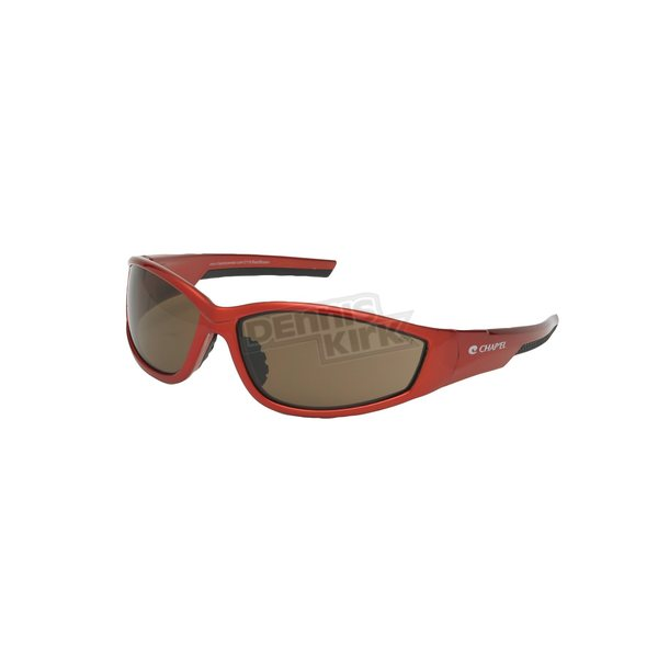 Chapel Red Safety C-119 Sunglasses w/Brown Lens - C-119RED/BR