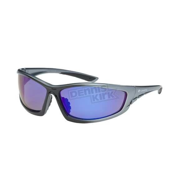 Chapel Silver Safety C-120 Sunglasses w/Blue RV Lens - C-120SL/BLU