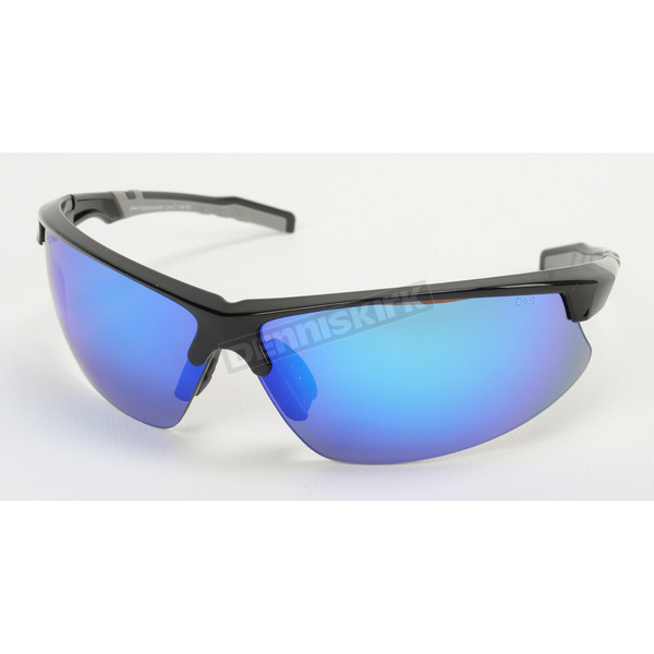 Chapel Black Safety C-144 Sunglasses w/Blue RV Lens - C-144BK/BLU