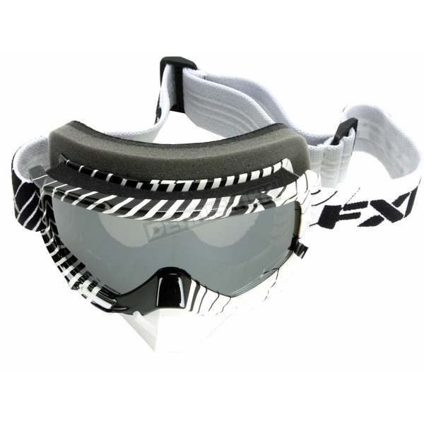FXR Racing Black/White Mission Goggles - 14440.10100