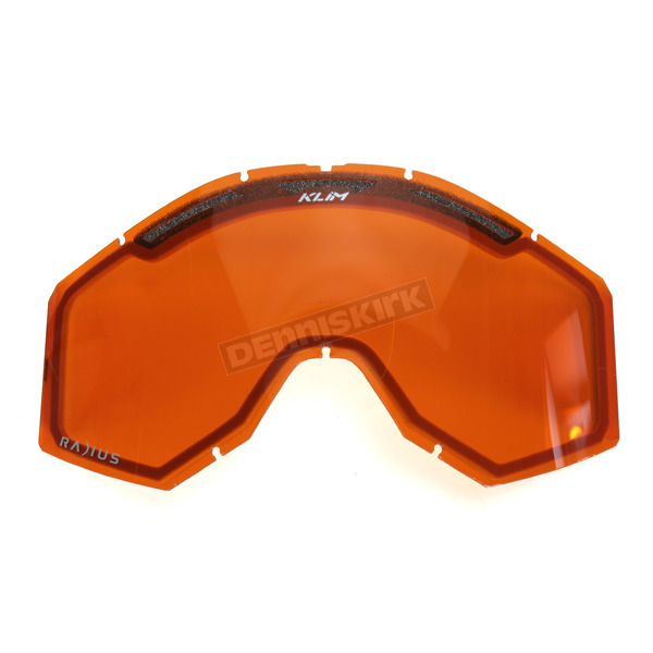 Klim Orange Tint Radius Pro Dual Replacement Lens - 7000-902-000-400