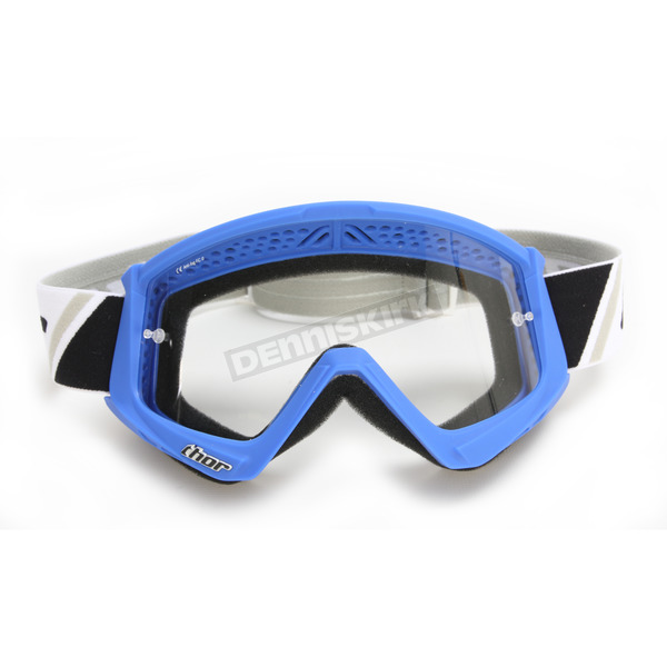 Thor Blue/White Combat Goggles - 2601-2076