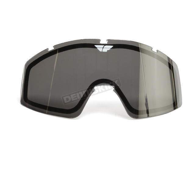 Fly Racing Chrome/Smoke Replacement Dual Lens for Zone/Focus Goggles - 37-2415