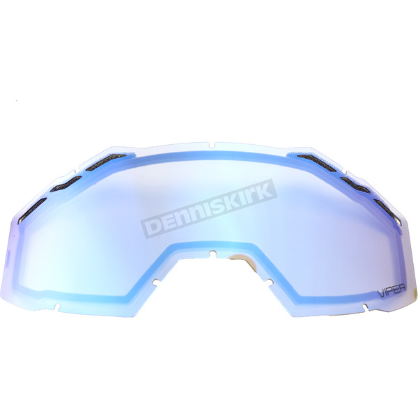 Klim Smoke Sky Blue Mirror Replacement Double Lens for Viper Goggles - 3981-000-000-200