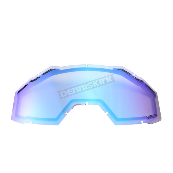 Klim Smoke Green Mirror Replacement Double Lens for Viper Goggles - 3981-000-000-015