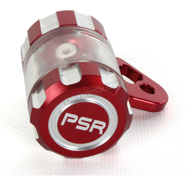 Powerstands Racing Red/Transparent Clutch Reservior - 00-01808-24