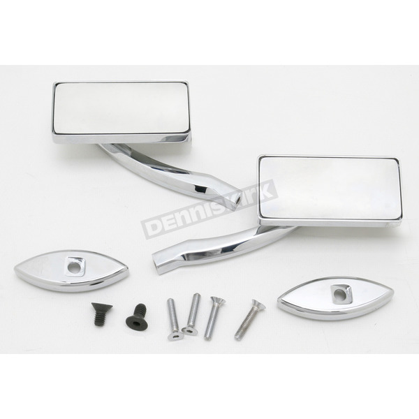 Pro-One Chrome Square Billet Aluminum Blade Mirrors - S10260