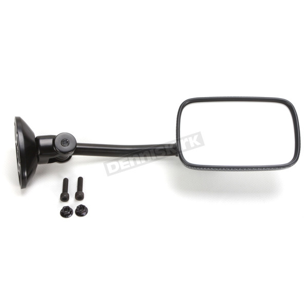 Parts Unlimited Carbon Rectangular Mini Long Stem Fairing Mount Mirror - 0640-0944