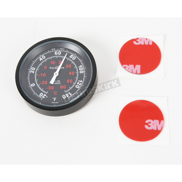 Formotion Black Anodized Snap Back Classic Series Thermometer w/Black Face - SB-82100