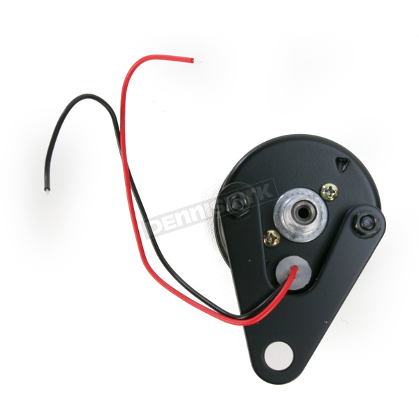 Drag Specialties 2:1 Ratio Black Faced Mini Mechanical Speedometers With Black Housing - 2210-0249