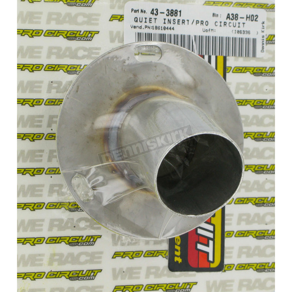 Pro Circuit Stainless Quiet Tip End Cap for 4-Stroke Silencers - PC4012-0006